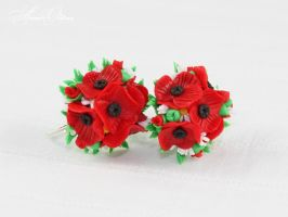 Bouquet of poppies by OrionaJewelry