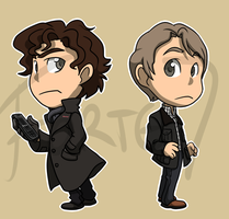 Stickers: Sherlock by forte-girl7
