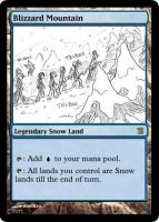 MtG: Blizzard Mountain by Overlord-J