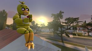 Chica on a roof [SFM] by ninidan