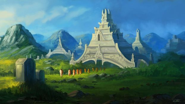 Standing temples by vennom07
