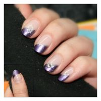 Nail Art: Purple Butterfly by ginkgografix