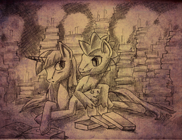 Sketch: Another Late Night by Whitestar1802