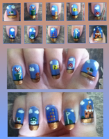 another Super Mario Bros manicure by MikariStar