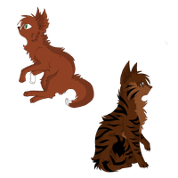 Brambleclaw and Squirrelflight by Bleedinginside47