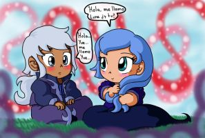 Amor chiquito Luna y Yue by reina-del-caos