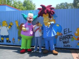Krusty, Me, and Sideshow Bob by DisneyFan-01
