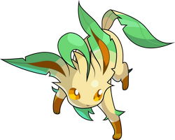 Pokemon Conquest - Leafeon by Kalas17