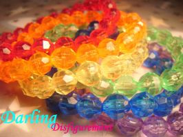 rainbow crystal bracelet set by leggsXisXawsome