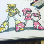 Yellow and Pink Mega-Rangers by AzizSupremeArt