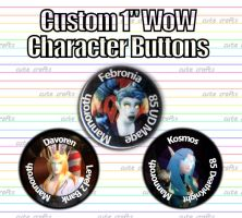 Custom WoW Character Buttons by MyFebronia