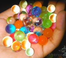 Water marbles ! by AmbreenKhanAmber