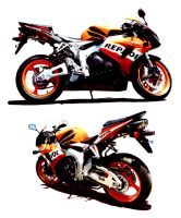 Sweet Honda Repsol Clippings by BKSARTS