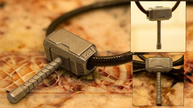 Drop the Hammer - Mjolnir Pendant by soupcan13