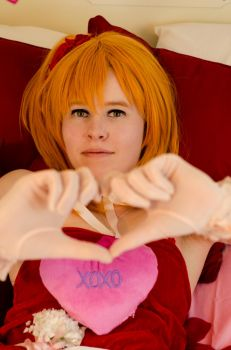 NEW SET! Valentine Honoka by SleepingQueenRegina
