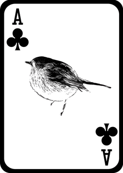 Robin Playing Card (Ace of Clubs) by JackSephton