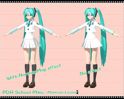 [Normal Map Test] PDA School Miku by Dan1024