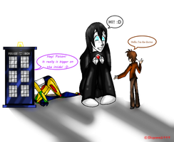 Tardis and us! :D by skyrore1999