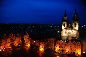 Prague view from the sky 2 by Heurchon