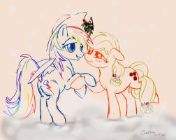 Mistletoe Sketch by SoapBoxShouts