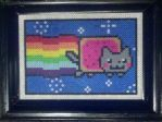 Nyan Cat Perler by paintmeaperfectworld