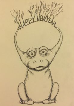 My New Years Eve drawing! by ajldesign