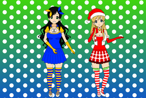 Advent Day 1: Holiday Girls Hanukkah and Christmas by thecoinma