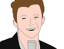 Rick Astley Pixelated by ArmaggedonBoy