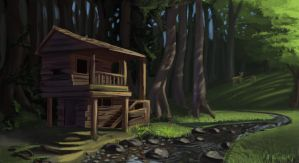 House in the forest by lukas-art