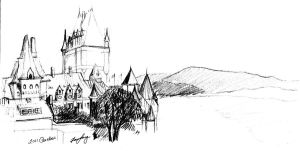 A Sketch of Chateau Frontenac, Quebec by SakurionRiel