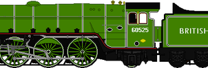 LNER Thompson A2/3 No. 61525 by omega-steam