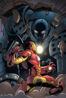 Iron Man vs Iron Monger by SiriusSteve
