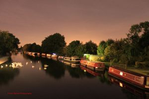 Canal at Night by eonalpha