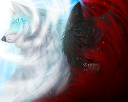 Heaven or Hell ? by wolfhound56200