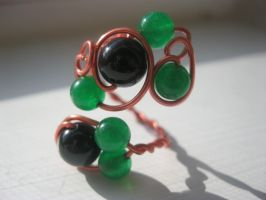 jade and onyx ring by faranway