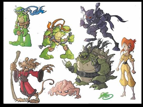 Sketches of Ninja Turtles by Cirolmo