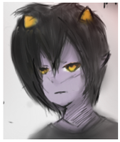 Karkat my fav homestuck character by mangalover77