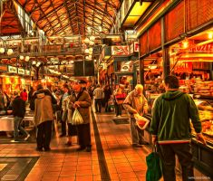 HDR Budapest Market Hall by jdesigns79