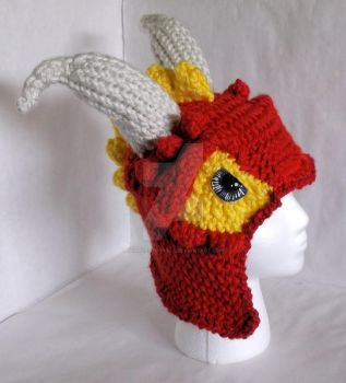 Loom Knit Dragon Hat by ScarlettRoyale