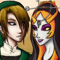 Link and Midna by KirbyMei