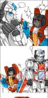 Skyfire and Starscream Oekaki by mucun
