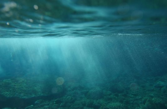 rays of sun underwater by giopic