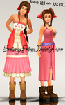{MMD Download} KH1 + KH2 Aerith by SanctuarysEmbrace