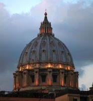 Sunset on St Peter's Basilica by JQ444