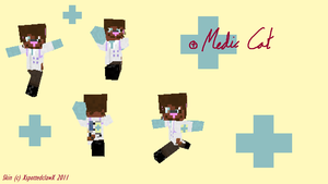 Medic Cat Minecraft Skin by XspottedclawX