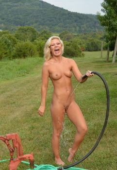 EmmaYoung - Outdoor Shower 1 by SwiftCreekPhotos