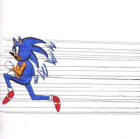 Sonic Run Colored by Banana-peel
