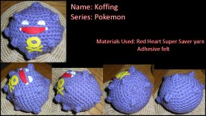 Amigurumi Koffing by JulianaK