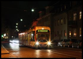 Typical tram-scene by night by TramwayPhotography
