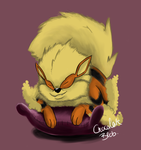 Arcanine's bedtime by Chocolateblob